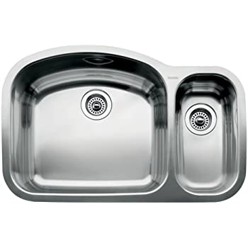 This Item Blanco 440246 Wave 1 1 2 Bowl Undermount Sink Satin Polished Finish