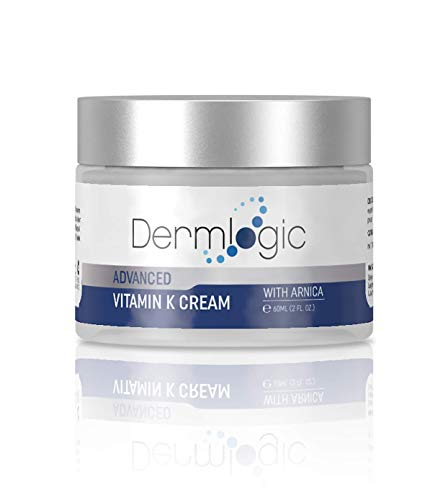 Vitamin K Cream- Moisturizing Bruise Healing Formula. Dark Spot Corrector for Bruising, Spider Veins & Broken Capillaries. Reduces Under Eye Dark Circles, Fine Lines, Puffiness, Wrinkles with Arnica -
