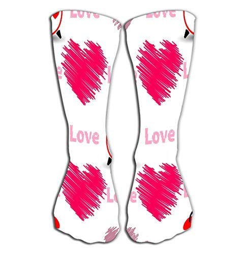 (YILINGER Hearts Word Love Watch Valentine s Day Used Printing websites Decor de Women's Men's Cool Colorful Casual Socks Casual Cotton Crew Socks Gift 19.7