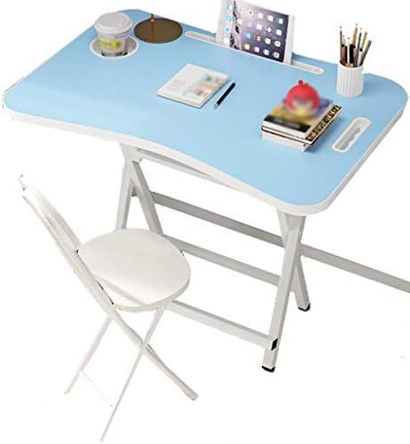学習デスク 子供の学習テーブルと椅子セット、キッズデスクセット 、折りたたみ式インタラクティブワークステーション、60 * 40 Cmの大型デスクトップ、シンプルな複合学習テーブルとチェアセット (Color : Blue, Size : 60*40*52cm)