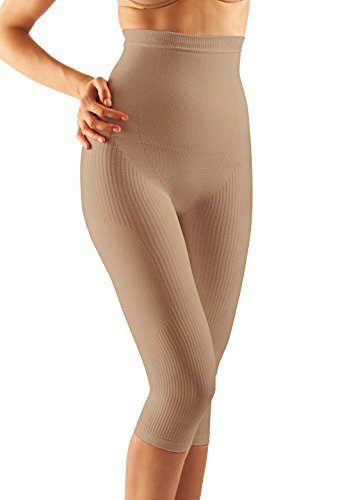 Farmacell Control - FarmaCell 323 (Nude, XXL) Women's high-Waisted Push-up Anti-Cellulite Control Capri Leggings