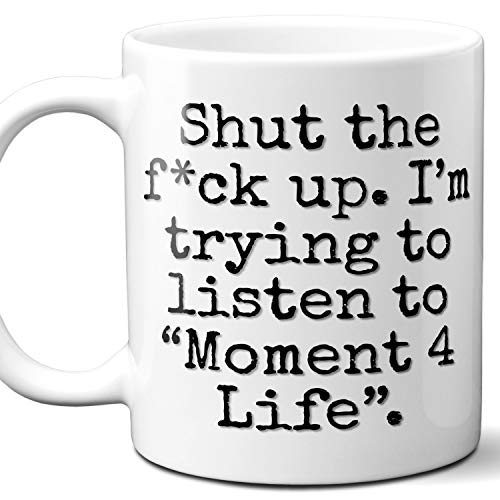 Moment 4 Life Song Gift Coffee Mug Cup. Funny Parody Lover Fan
