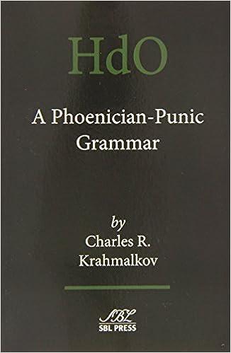 Book A Phoenician-Punic Grammar (Handbook of Oriental Studies) by Charles R. Krahmalkov (2014-10-31)