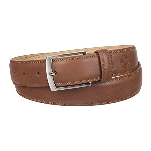 Weatherproof Men's Belt with Single Prong Buckle, Cognac/Silver Buckle, 38 by Weatherproof