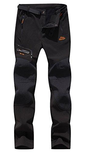 Anlamb Womens Outdoor Waterproof Windproof Fleece Cargo Snow Ski Hiking Pants