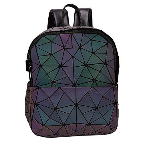 - Harlermoon Geometric handbag Luminous women bag Holographich Purses Flash Reflactive purse and handbag Tote for Women (Backpack3)