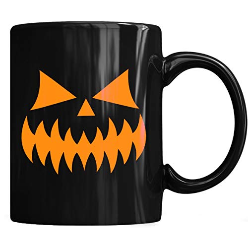 (Smiling Pumpkin Face - Easy Halloween Costume Fun Mug - Halloween Pumpkin Face - Mug Coffee Mug 11oz & 15oz Gift Tea)