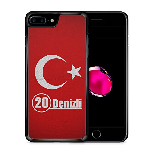 6dce9be1624 Denizli 20 Türkiye Türkei iPhone 7 PLUS SCHWARZ Hardcase Hülle Cover Case  Schale Tasche Turkey Bayrak