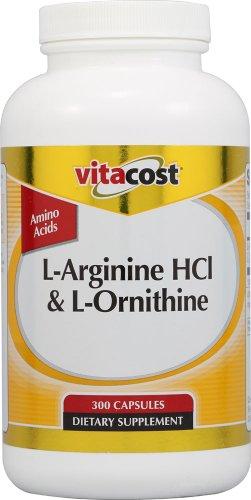 Vitacost L-Arginine HCl et L-Ornithine - 300 Capsules