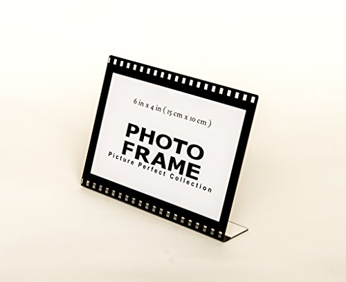 Photo Booth Frames 6x4 Clear Acrylic Picture Frame Film Style Hollywood Frame Sign Holder Horizontal Picture Frame (96) ()