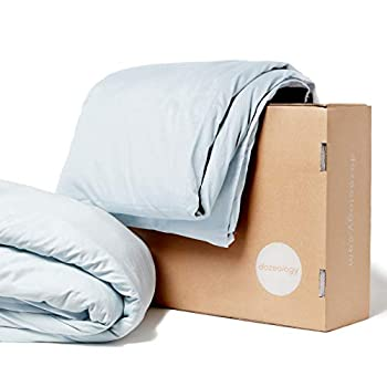 Image of Dozeology Cooling Weighted Blanket Premium ? 160GSM Luxury Cotton Cover Included ? 15 lbs, 60X80, Queen/Full Size ? Best for Adult Men and Women ? (Sky White) Dozeology B07D94JZWB Weighted Blankets