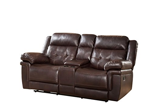 Light Amp Dark Brown Recliner Chairs Leather Swivel