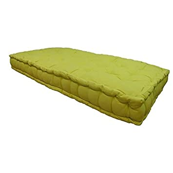 Matelas De Sol 100 Coton 60x120x15 Cm Vert Anis Amazon Co Uk