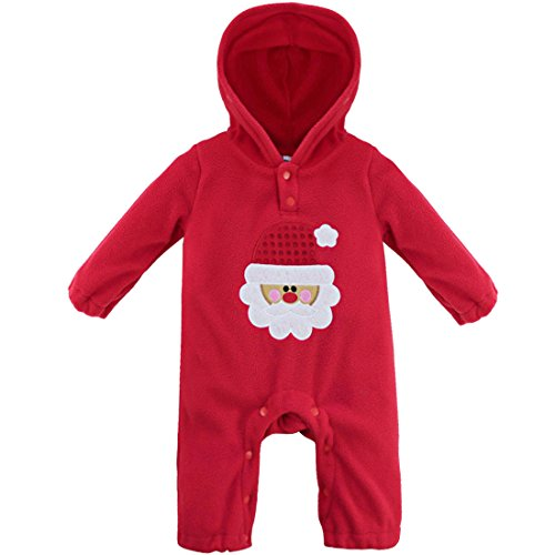 Baby Satan Costume (CHICTRY Baby Boys Girls Long Sleeve Halloween Pumpkin Hooded Romper Jumpsuit (9-12 Months,)