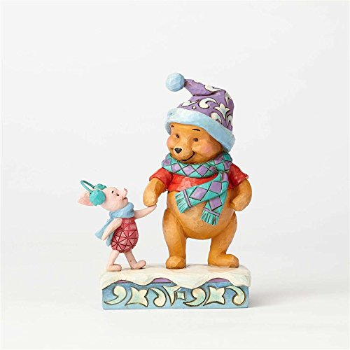 (Jim Shore Disney Traditions by Enesco Winter Pooh and Piglet Figurine)