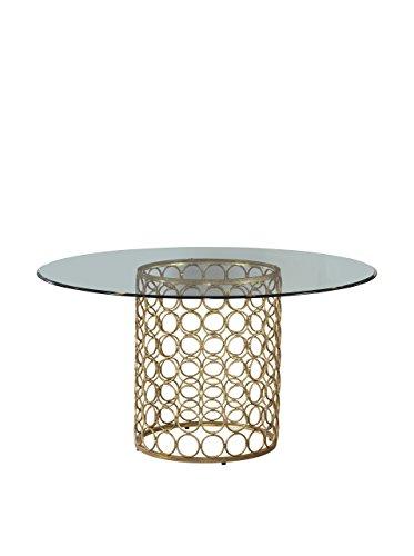 Bassett Mirror Carnaby Dining Table, Gold (Dining Bassett)