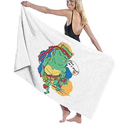 LXXYZ Give Me A Pizza Turtles President Heros Prints Bath Towel Wrap Womens Spa Shower and Wrap Towels Swimming Bathrobe Cover Up for Ladies