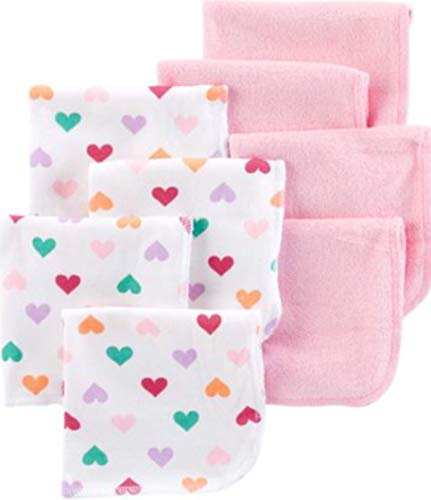 Child of Mine by Carters Baby Girl Washcloths, 8-Pack