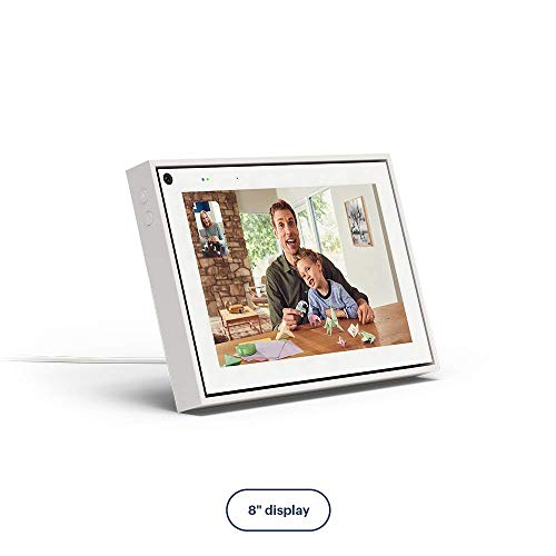 Facebook Portal Mini Smart Video Calling 8' Touch Screen Display with Alexa White