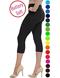 Extra Soft Capri Leggings with High Wast - 20 Colors - Plus