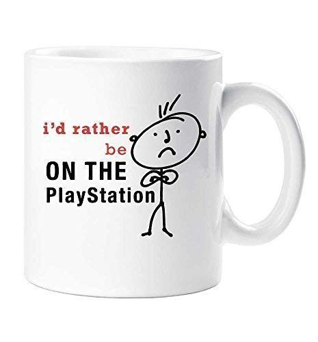 Rather Husband Dad Be Mug Cup Friend Birthday On The Men's Playstation I'd Gift Day Christmas Fathers rthQdxBsC