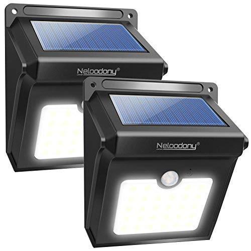 Lampade Solari Da Giardino Amazon.Neloodony Luci Solari Lampade Solari Da Esterno 28 Led Con Sensore Di Movimento Illuminazione 2 Pack