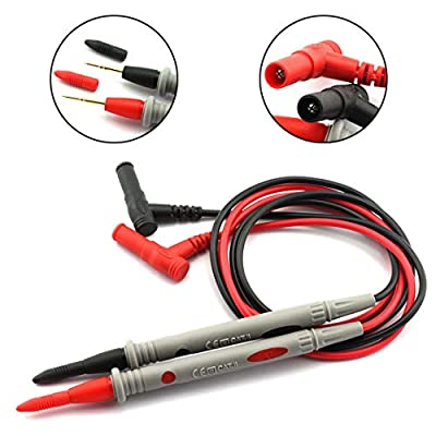DZS Elec 1 Pair 1000V 20A Digital Multimeter Probe Portable Fully Sheathed Multi Meter Test Leads Accessory Universal Digital Multi-Sensor Test Pen
