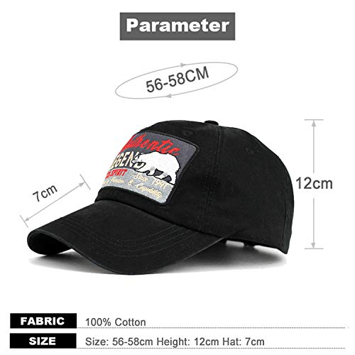 Spirit Outdoor Caps Men Women Baseball Cap Sport Bone Snapback Hat Gorras para Hombre De Marca Polar Bear Black at Amazon Womens Clothing store: