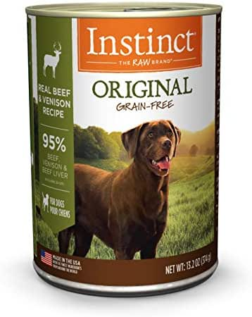 Instinct Original Grain Free Real Beef & Venison Recipe Natural Wet Canned Dog Food by Nature's Variety, 13.2 oz. Cans (Case of 6)