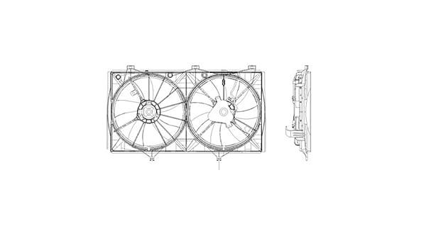 Make de auto partes fabricación Shroud - Ventilador Del Radiador Para Modelos con 2.4L L4; América del Norte y Japn - to3110151: Amazon.es: Coche y moto