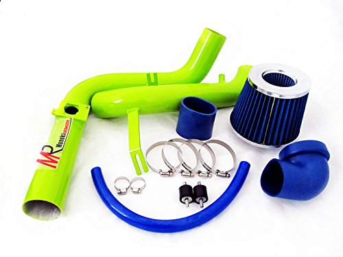 00 01 02 03 Ford Focus 2.0L L4 Green Piping Cold Air Intake System Kit with Blue Filter