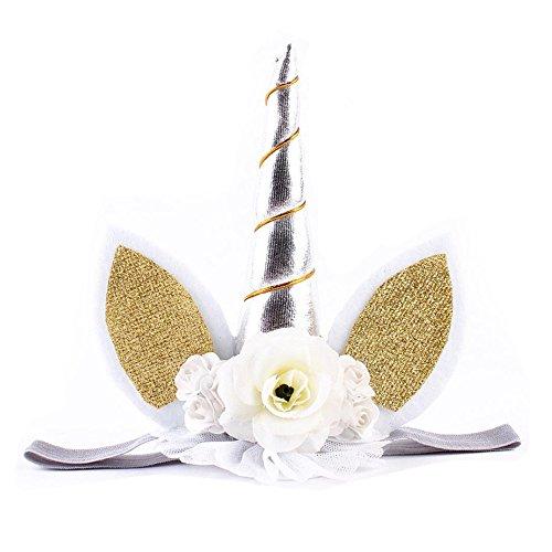 Vibola Girl unicorn Hairband Party Head Accessories Baby Elastic Flower Headwear - Headwear Charleston