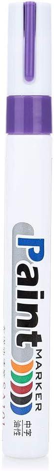 Bleu Hanbaili Stylo marqueur Peinture Pneu Surligneurs pour Le m/étal Stylo /à Pneu Permanent /étanche pour Camion Le Caoutchouc Bicyclette la c/éramique Moto Le Verre