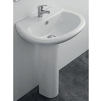 Lavabo Lavabo Avec Colonne En Porcelaine Elma Un 630 X 485 Bain