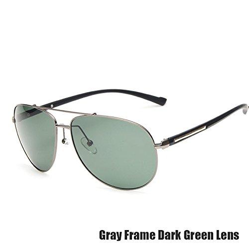 TIANLIANG04 De Polarizados Verde DARK Sol GRAY Revestimiento De Gafas Piloto Lentes Uv400 Gris GREEN Guay Hombres Para Color Oscuro Aviador Guía Espejo Vidrios De Muy rqwfrxR7z