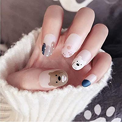Uñas Postizas,Natural Francés Nails,Cubierta Completa Longitud ...