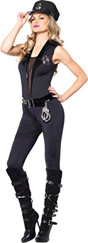 Leg Avenue Women's 4 Piece Backup Officer Police