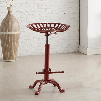 Carolina Chair and Table Adjustable Colton Tractor Seat Stool, Red (Furniture Carolina Rustic)