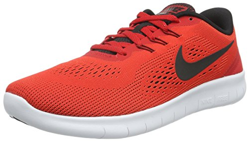 NIKE Boys Free (GS) Running Shoes University Red/Black-White 5.5Y by NIKE