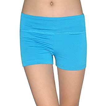 Marika Womens Athletic Fitness Training & Yoga Shorts Large Blue
