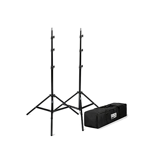 Fovitec - 2 x 7'6' Photography & Video Light Stand Kit - [For Lights, Reflectors, Modifiers][Collapsible][Carrying Bag Included]