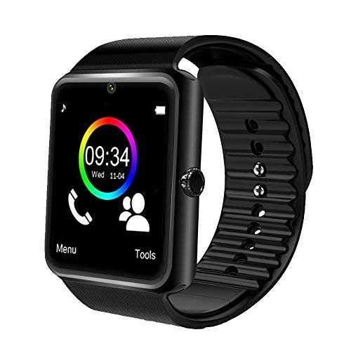 Phone Watch Cell Camera (Bluetooth Smart Watch with Camera Waterproof Smartwatch Touch Screen Unlocked Cell Phone Watch Smart Wrist Watch Smart Watches for Android Phones Men Women Kids (Black))