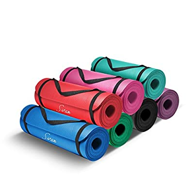 Sivan Health and Fitness 1/2-InchExtra Thick 71-Inch Long NBR Comfort Foam Yoga Mat for Exercise, Yoga and Pilates by Sivan Health And Fitness