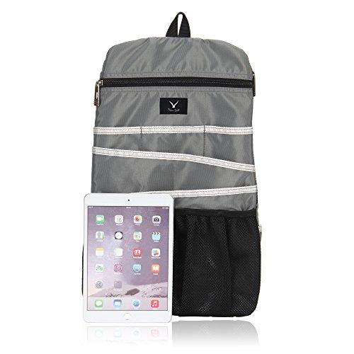 Hynes Eagle Universal Backpack Insert Organizer Travel Bag Slip Gadget Organization Kit Ashy