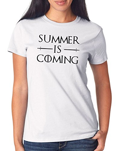 Summer is Coming T-Shirt Girls White Certified Freak