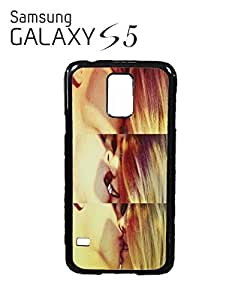 Sexy Kiss Lesbian Straight Mobile Cell Phone Case Samsung Galaxy S5 Black