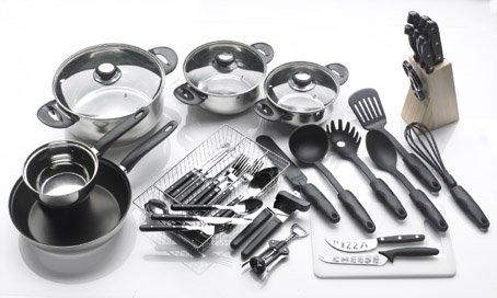 haushalts erstausstattung 41 teilig! 4 töpfe, pfanne, besteck etc ... - Erstausstattung Küche