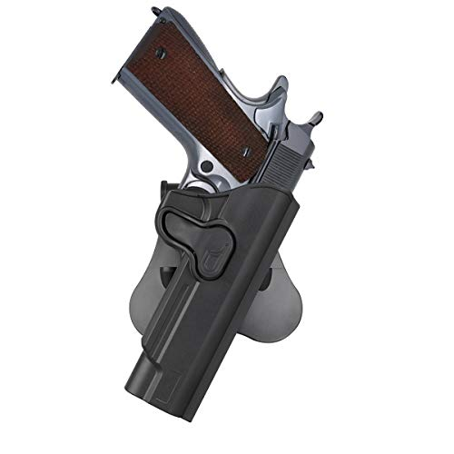 cavebear OWB Paddle Holster Fits Colt 1911 5'' Kimber 1911/S&W 1911/Taurus 1911/Remington 1911 R1/Sig 1911/Ruger SR1911/GSG 1911, Outside Waistband Holster, 360° Adjustable - Right Hand