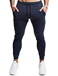 Men's Slim Jogger Pants, Tapered Athletic Sweatpants for Jogging Running Exercise Gym Workout