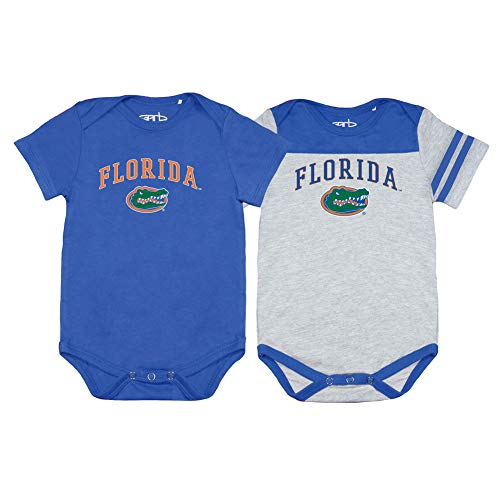 Elite Fan Shop Florida Gators Infant Onesie 2 Pack - 6M - Blue